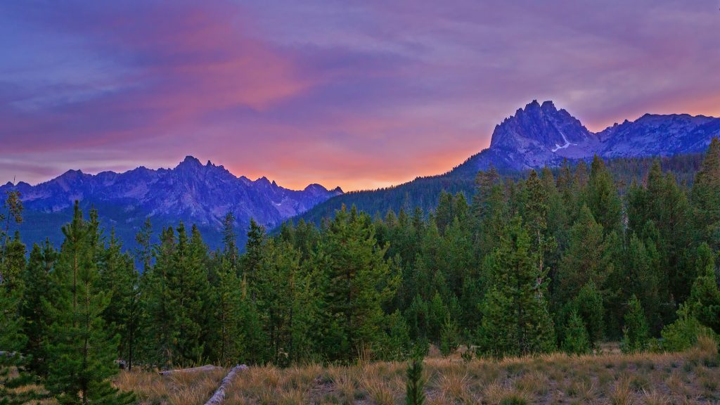 scenic image sawtooth sunset